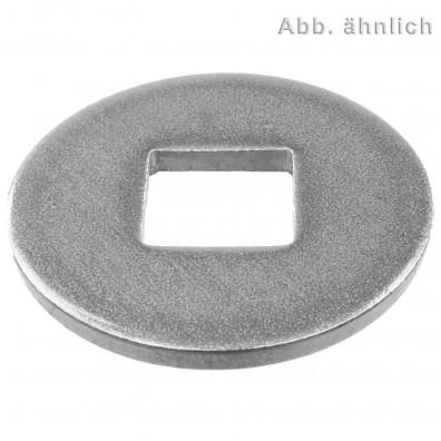 25 Unterlegscheiben DIN 440 A2 Edelstahl Form V Vierkantloch M20