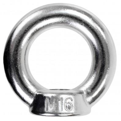 1 Ringmutter - M16 - gegossene Ausführung - Edelstahl A2
