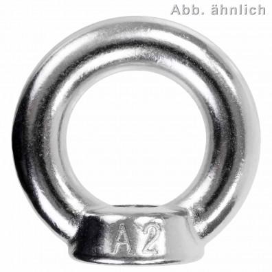 1 Ringmutter - M30 - gegossene Ausführung - Edelstahl A2