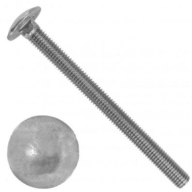 100 Schlossschrauben DIN 603 - M8 x 100 mm - Edelstahl A2