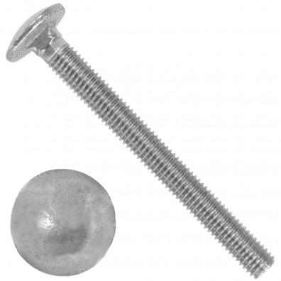 20 Schlossschrauben DIN 603 - M8 x 80 mm - Edelstahl A2
