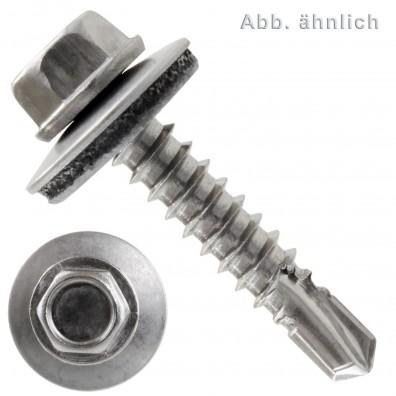 200 Bohrschrauben Form K DIN 7504 Edelstahl A2 16mm Dichtscheibe 5,5x58