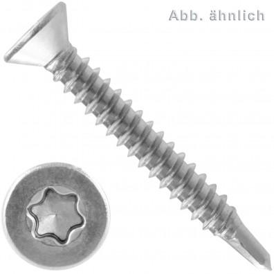 50 Bohrschrauben Form O DIN 7504 Edelstahl A2 Torx 25 Senkkopf 4,8x50