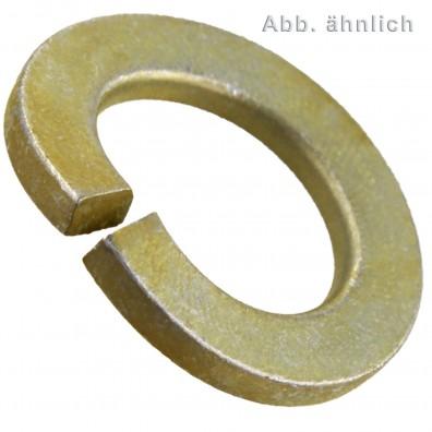 Federringe DIN 128 - Form A (gewölbt) - mechanisch gelb verzinkt