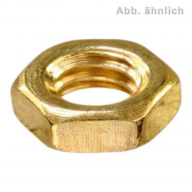 Sechskantmuttern - DIN 439 - Form B - Messing