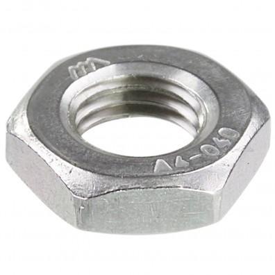 50 Sechskantmuttern M10 - Feingewinde 1,25mm - niedrig, Form B - A4 - DIN 439