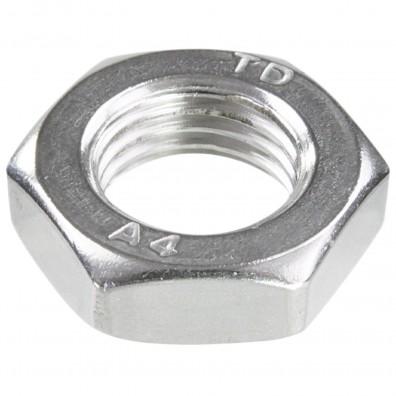 50 Sechskantmuttern M14 - Feingewinde 1,5mm - niedrig, Form B - A4 - DIN 439