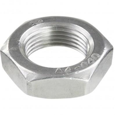 50 Sechskantmuttern M20 - Feingewinde 1,5mm - niedrig, Form B - A4 - DIN 439