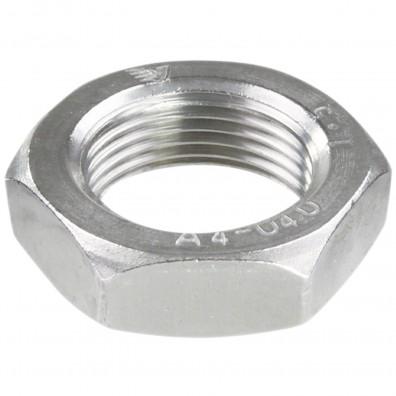 25 Sechskantmuttern M22 - Feingewinde 1,5mm - niedrig, Form B - A4 - DIN 439
