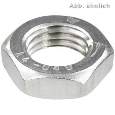 100 Sechskantmutter M16 - Linksgewinde - niedrig,Form B= mit Fase - A4 - DIN 439