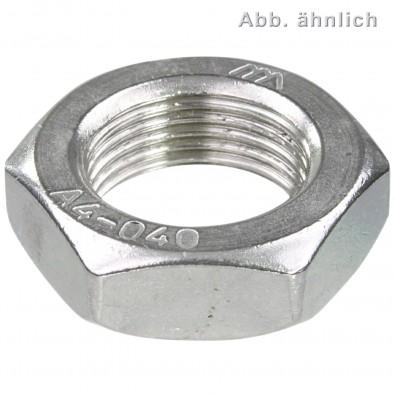 50 Sechskantmutter DIN 439 A4 niedrige Form B Fein Linksgewinde