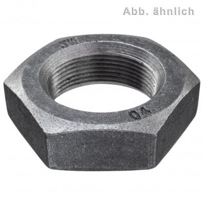 10 Sechskantmuttern M36 - Feingew. 1,5mm - niedrig, Form B - blank - DIN 439