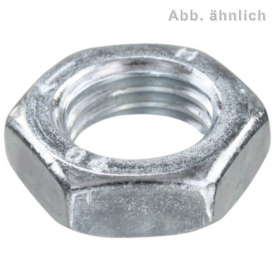 Sechskantmuttern - DIN 439 - galvanisch verzinkt - Form B - Linksgewinde