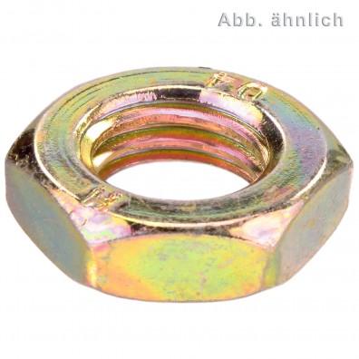 Sechskantmuttern DIN 439 Form B galvanisch verzinkt gelb chromatiert