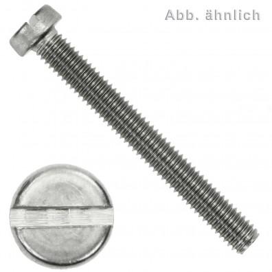 1000 Zylinderschrauben M2,5 x 8mm - Schlitz - Edelstahl A2 - DIN 84