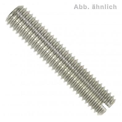 200 Gewindestifte mit Schlitz und Kegelkuppe DIN 551 Edelstahl A2 M3x12
