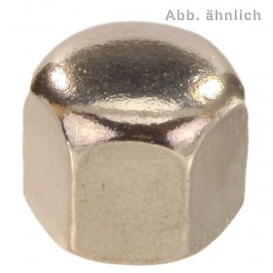50 Sechskant-Hutmuttern, niedrige Form DIN 917 Edelstahl A2 M14
