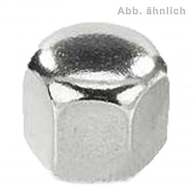 200 Sechskant-Hutmuttern, niedrige Form DIN 917 Edelstahl A2 M8