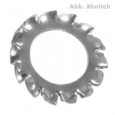 100 Fächerscheiben für M12 - DIN 6798 - Form A - Edelstahl A4 - amagnetisch