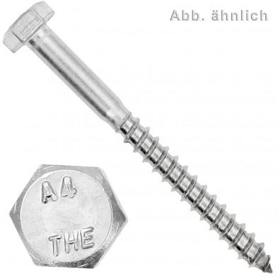Sechskantholzschrauben DIN 571 - Edelstahl A4 - Sechskant