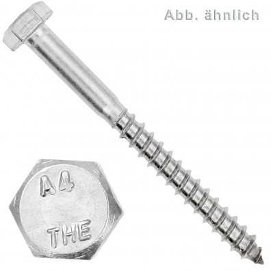 100 Schlüsselschrauben 10x75 mm - Edelstahl A4 - DIN 571