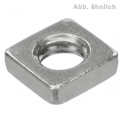 Vierkantmuttern - DIN 562 (niedrige Form) - Edelstahl A2