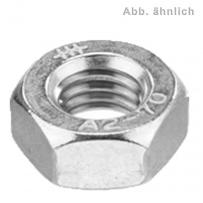 200 Sechskantmuttern M6 - mit Klemmteil - SW10 - Edelstahl A4 - DIN 980
