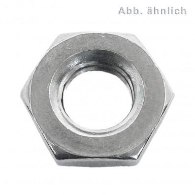 50 Sechskantmuttern M22 - SW32 - niedrige Form - Edelstahl A4 - DIN 936