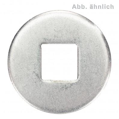 50 Unterlegscheiben DIN 440 Edelstahl A4 Form V Vierkantloch M16