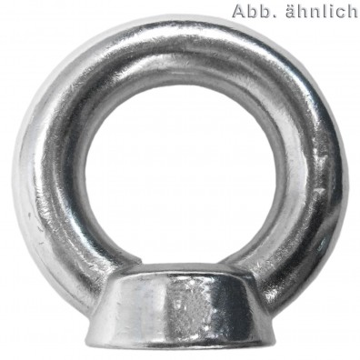 5 Ringmuttern ähnlich DIN 582 Edelstahl A4 M27