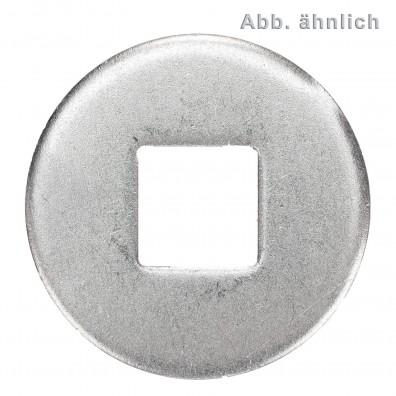 Unterlegscheiben DIN 440 - Form V - Vierkantloch - Blank