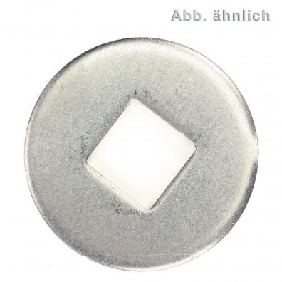 Unterlegscheiben DIN 440 - Form V - Vierkantloch - galvanisch verzinkt