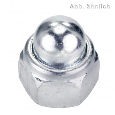 100 Sechskanthutmuttern mit Klemmteil DIN 986 A2 M10