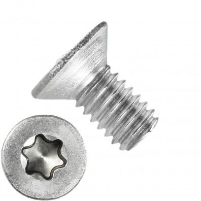 1000 Senkschrauben M2,5 x 5 mm - ISR TX 8 - Edelstahl A2 - DIN 965