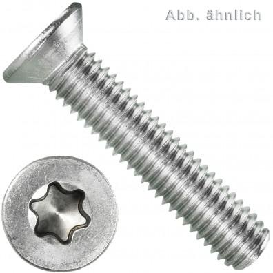 100 Senkschrauben M8 x 25 mm - ISR TX 45 - Edelstahl A2 - DIN 965
