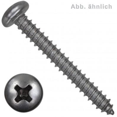 200 Blechschrauben DIN 7981 - 6,3x45 mm - Linsenkopf - Kreuz - Edelstahl A2