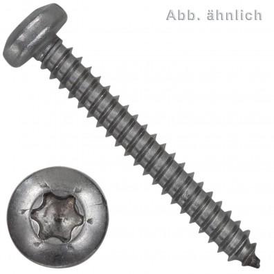 1000 Blechschrauben DIN 7981 - 3,5x19 mm - Linsenkopf - Torx - Edelstahl A2