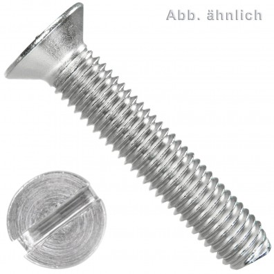 1000 Senkschrauben DIN 963 Schlitz Edelstahl A2 4x14mm