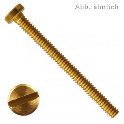 Zylinderschraube mit Schlitz - DIN 84 - Messing blank