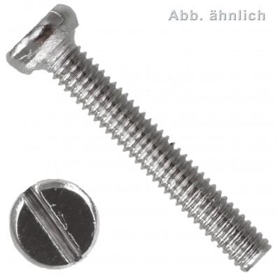 Zylinderschraube mit Schlitz - DIN 84 - Messing vernickelt