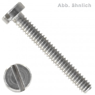 Zylinderschraube mit Schlitz - DIN 84 - Stahl