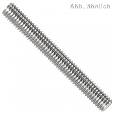 25 Gewindestifte M6 x 12 mm - DIN 913 - Kegelkuppe - SW1 - Edelstahl A1-A2