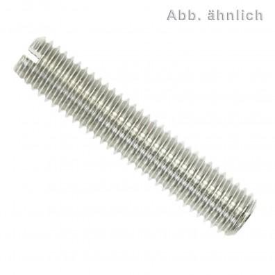 25 Gewindestifte mit Schlitz und Kegelkuppe DIN 551 Edelstahl A4 M8x6