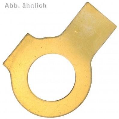 Scheiben mit 2 Lappen - DIN 463 - Messing