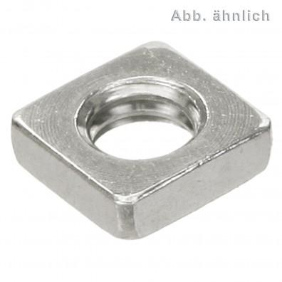 100 Vierkantmuttern, niedrige Form DIN 562 Edelstahl A4 M3
