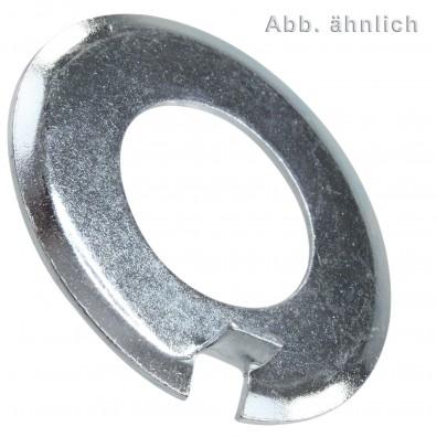 Scheiben mit Aussennase - DIN 432 - galvanisch verzinkt