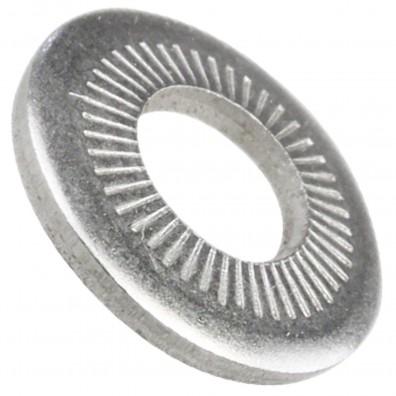 1000 AFNOR-Kontaktscheiben gezahnt für M6 - Form M - Edelstahl A2