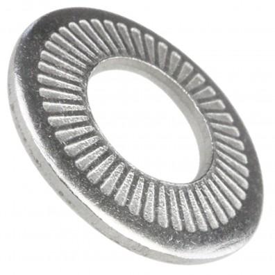 1000 AFNOR-Kontaktscheiben gezahnt für M8 - Form M - Edelstahl A2