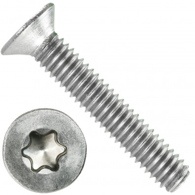 1000 Senkschrauben DIN 965,  Edelstahl A4, Torx 8, Senkkopf 2,5 x 14 mm