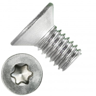 500 Senkschrauben DIN 965, Edelstahl A4, Torx 10, Senkkopf 3 x 6 mm
